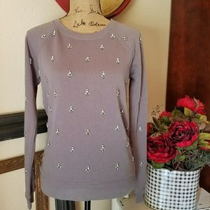 J. Crew embellished sweater